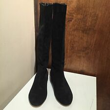 BCBG Generation Adrice Leather Lace Over Knee Boots Black SIZE 6B / 36