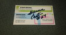 NFL Referee Shannon Eastin  autographed business card