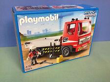 (N5283) playmobil Camion de chantier rouge édition limité 5283 en boite neuve