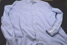 Converse One Star XL Blue White Stripe Long Sleeve Button Men's Shirt