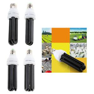 15W/20W/30W/40W UV Ultraviolet Fluorescent Blacklight CFL Light Bulb Lamp 220V