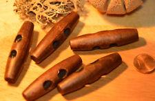 Große Knebel Holz Knopf Knöpfe 5cm 50mm 5 Stück NEU Mittel