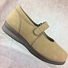 "Women's Drew Shoes ""Bloom II"" Mary Jane Orthopedic Tan Brown leather, Size 8 WW"