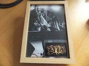 Dio, framed picture and promo style pass