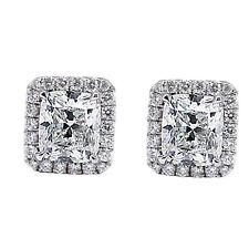 2.66 CARATO SPLENDENTE diamante tagliato ORECCHINO D/VS2 18k oro bianco