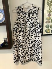Scanlan Theodore, black and white spotty frill halter dress size 10