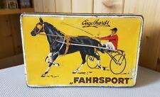 Alte Engelhardt Blechdose * Zigarettendose FAHRSPORT * 100 Cigaretten * old tin