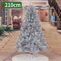 Sliver Artificial PVC Christmas Tree W/Stand Holiday Indoor Outdoor Decorate