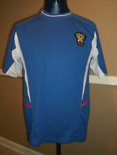 Vintage Russia National Soccer Team Jersey LARGE Blue FUR Russian Союз РФС