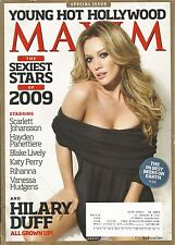 JANUARY 2009 MAXIM MAGAZINE HILARY DUFF LIZZIE MCGUIRE MOST WANTED WAR, INC HOT!