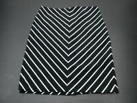 Grace Elements T668 Size 12 Women's Black/White Striped Pencil Skirt W/Back Slit