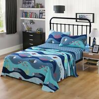 Bed Sheets for Kids Girls Boys Teens Children Beds Set, 276 Fish Sheet