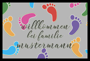 """Fußmatte """"Fußabdruck"""" mit Ihrem Namen oder Text"""
