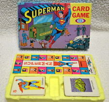 SUPERMAN CARD GAME 1966 Ideal Lightly Used Complete High Grade RARE