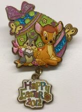 Disney Pin Hong Kong Disneyland Happy Easter 2012 Bambi Thumper Pin New Easter