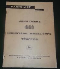 John Deere 440 Industrial Wheel Tractor Parts Manual Book Catalog Pc-574