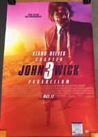 🔥Keanu Reeves Signed John Wick 3 Movie Poster 24x36 PSA/DNA Rare Autograph