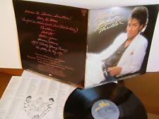 Michael Jackson - Thriller  EPC 85930  UK LP  1982 Epic  Beat It   Billie Jean