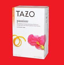 1 Box of Tazo Passion - Herbal Tea - 20 Tea Bags - NEW