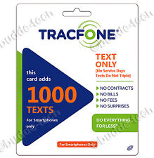Tracfone 1000 Texts Android/Smartphone/BYOP Text Messages Top-Up Refill PIN Air