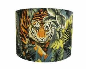 UK Handmade Lamp/Celing Shades  In Prestigious Textiles Fabric - Bengal Tiger