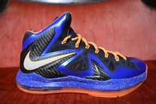 WORN TWICE Nike Lebron 10 X Elite Superhero Size 10 Men's Basketball Shoe Super