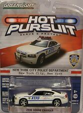 GREENLIGHT DIECAST METAL 1:64 SCALE NYPD WHITE 2010 DODGE CHARGER POLICE CAR