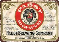 """Pabst blue ribbon beer brewing company Vintage Retro Metal Sign 8"""" x 12"""""""