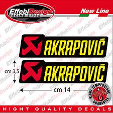 2 Adesivi Sticker AKRAPOVIC ALTE TEMPERATURE 200 gradi scarichi HONDA SUZUKI KTM