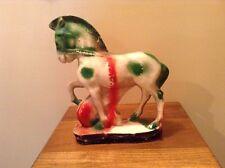 """Vintage 11"""" chanlkware carnival prize draft horse figurine"""