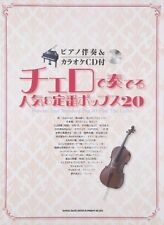 Popular songs for Cello and Piano Sheet Music Book w/CD