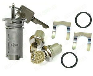 Ignition Door Lock Cylinder and Switch Cylinder Set With Keys for Buick Cadillac