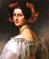 Oil painting Joseph Karl Stieler - auguste hilber zweite beautiful young woman @