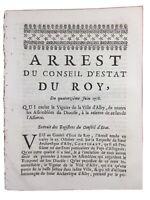 Albi en 1718 Tarn Occitanie Languedoc Dujardin Diocèse d'Albi Arrêt du Roi