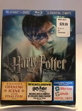 Blu-Ray DVD Digital Copy Harry Potter And The Deathly Hollows Part 1 Exclusive