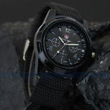 Montre militaire Homme armée suisse Gemius army Bracelet tissu noir