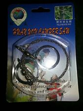 Stainless Steel Wire Pocket Saw Emergency Camping Hunting Travel Survive Tool