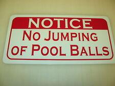 NO JUMPING of POOL Balls Sign Metel vintage billiard for home or pool hall Bar