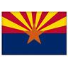 """Arizona State Flag car bumper sticker 5"""" x 4"""""""