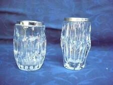2 Noble vases décoratifs __ AVEC 800-925 MONTURE EN ARGENT_