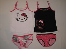 NWT HELLO KITTY 4 PC bikinis underwear set GIRL size 6 multi color