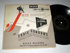 "10"" LP Eddie Condon JAZZ CONCERT Decca"