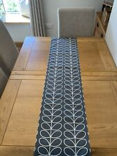 Table Runner Orla Kiely Cool Grey Stem Fabric 52 Inches Long