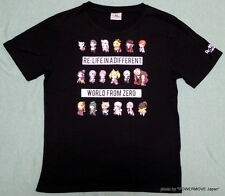 New Re: Life in a Different World from Zero T-shirt Men's LL Black Cotton 100%