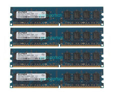 8GB ELPIDA 4X 2GB PC2-6400 2RX8 DDR2 800mhz DIMM Desktop Memory RAM 240pin