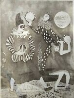 "Grande gravure sur papier ""Jongleurs"",signe,French engraving."