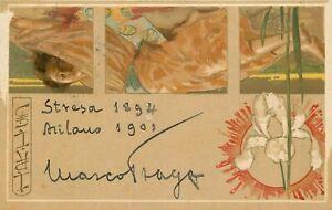 Autografo del commediografo Marco Praga (Milano, 1862 - Varese, 1929)
