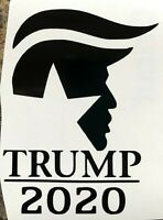 Politics Hair Trump 2020 President Republican Vinyl Decal Sticker Car Window