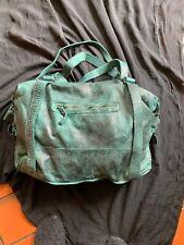 Green Washed Affect Leather Bag Hand And Shoulder Straps