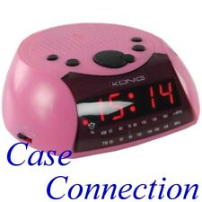 Radiowecker - pink # UKW Uhrenradio Clock Radio rosa